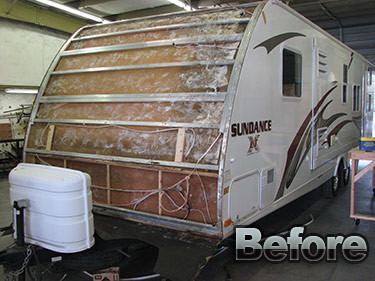 Image of a beat up Trailer...We can fix anything.